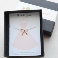 Bridesmaid Gift Bow Necklace