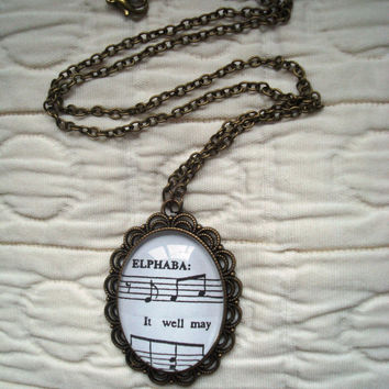Wicked sheet music necklace (For Good, option 2)