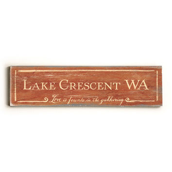 Personalized In The Gathering City Sign Wood Sign
