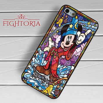 Mickey Mouse Stained Glass - zzZzz for  iPhone 4/4S/5/5S/5C/6/6+s,Samsung S3/S4/S5/S6 Regular/S6 Edge,Samsung Note 3/4