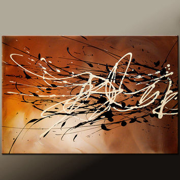 Abstract Canvas Art Painting Canvas 36x24 Original Modern Contemporary Paintings by Destiny Womack - dWo - Autumn Breeze