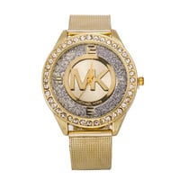 Hot Sale Stylish Gold Bracelet Watch Ladies Alloy Diamonds Bracelet Watch [6542110019]
