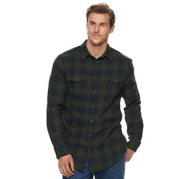Big & Tall Sonoma Goods For Life??supersoft Stretch Flannel Shirt | Null