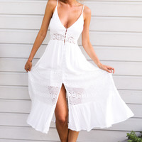 Butter Cake Maxi Dress White