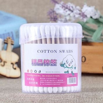 New150pcs Double Head Health Makeup Cosmetics Ear Clean Cotton Swabs Stick Drop