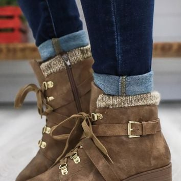 Sloan Booties - Taupe