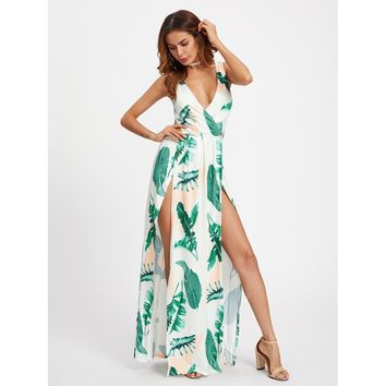 Breezy Palm Leaf Dress - Multi