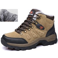 New mens hiking outdoor shoes snow boots winter brand  anti-skid mountain climbing boots  breathable outdoor hiking shoes sports