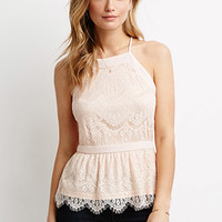 Eyelash Lace Halter Top