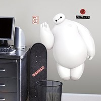 RoomMates RMK2809GM Big Hero 6 White Baymax Peel and Stick Giant Wall Decals