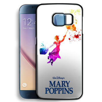 Mary Poppins in Watercolor Art for Samsung Galaxy S6 Case