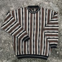 BACHRACH MEN'S Vintage Cotton Blend Cosby Style Sweater Size Large