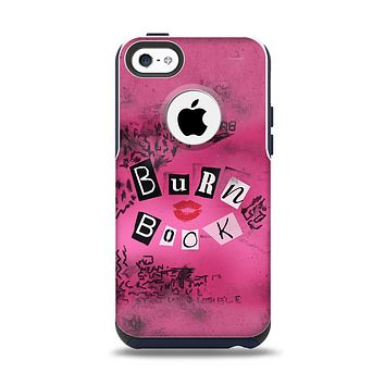 The Burn Book Pink Apple iPhone 5c Otterbox Commuter Case Skin Set