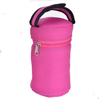 Baby Bottle Tote Bag-This Pink Thermal Bottle Carrier Keeps Your Infant's Bottles Warm And Cool -This Insulated Bottle Tote Bags Fits All Brands