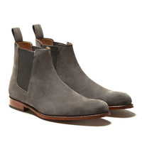 Grenson Declan Suede Chelsea Boot in Grey