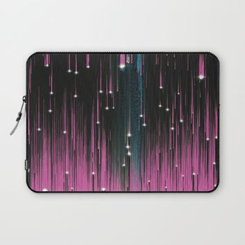 Pink Meteors Laptop Sleeve by DuckyB