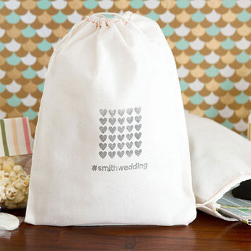 Personalized 10 Hashtag Weddings Welcome Bags