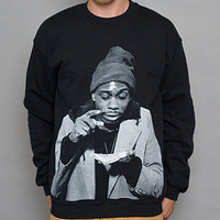 Paper Root Clothing — The PB & Crack Crewneck Sweatshirt - Black
