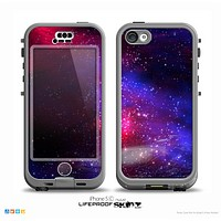 The Vivid Pink Galaxy Lights Skin for the iPhone 5c nüüd LifeProof Case
