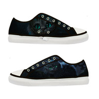 Cheshire Cat Alice in Wonderland Tim Burton Women Canvas Shoes - Sizes: US 5 6 7 8 9 - EUR 36 37 38 39 40