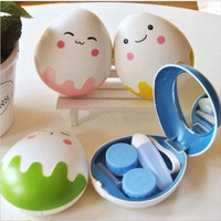 Egg Design Travel Contact Lens Case Box Set Cleaning Holder Soak Storage