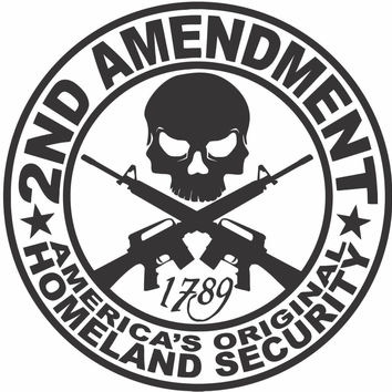 2ND Amendment AR15 Sticker Decal 20 Colors To Choose From.