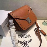 MCM Women Fashion Leather Shoulder Bag Crossbody