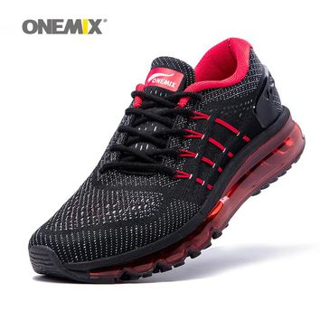 Onemix new  sport shoes men running shoes unique shoe tongue design breathable male athletic outdoor sneakers zapatos de hombre