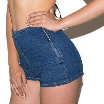 Fashion Tight High Waist Denim Jeans Shorts Pants