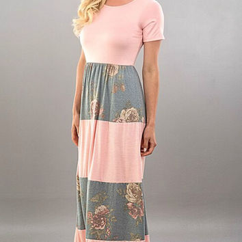Spring Meadows Maxi Dress - Blush