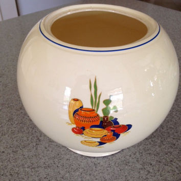Price Reduced****Vintage KITCHEN KRAFT MEXICANA Large Ball Jar Fiesta Homer Laughlin