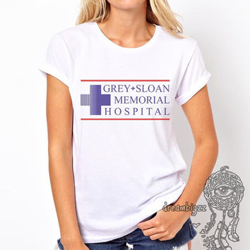 JUST LOGO Grey Sloan Memorial Hospital Grey's anatomy printed on Women tee