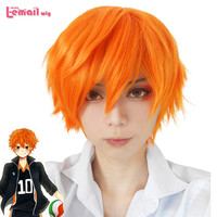 3 Style 25cm Men Short Synthetic Hair Orange Wig Koushi Sugawara Nishinoya Yuu hinata haikyuu Anime Cosplay Wig