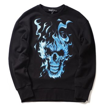 Skull head Monster Sweatshirt Cotton Thicken Fleece