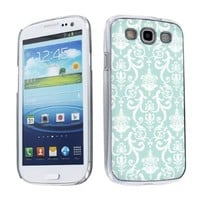 Samsung Galaxy S3 Cover Case - AT&T, Verizon, Sprint, T-Mobile, U.S Cellular, International GSM - Teal Retro
