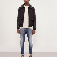 The Idle Man Wool Sherpa Jacket Black