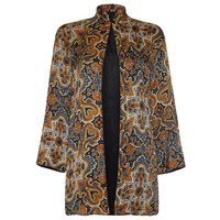 1930's Colourful Paisley Print Silk Jacket