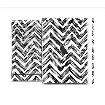 The Sketch Black Chevron Skin Set for the Apple iPad Mini 4