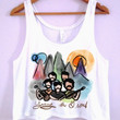 Young The Giant Cartoon Crop-Top