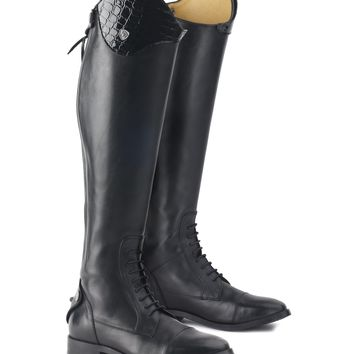 Ovation Ladies Mirage Convertible Top Field Boot - Black