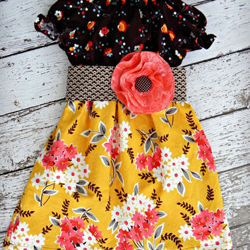 Kynleigh Autumn Boutique Dress Baby Toddler Girl's sizes 6mos to 6yrs