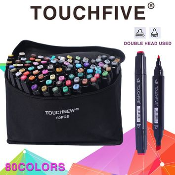 TOUCHFIVE Finecolour 168 Colors Watercolor Oily Alcoholic Dual Headed Manga Painting Copic Markers Sketch Set Liners For Drawing