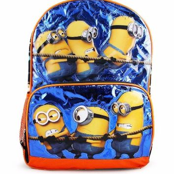 Despicable Me Minions 3 Black 16 inch Backpack