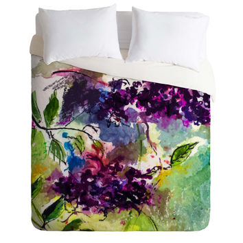 Ginette Fine Art Elder Berries Wild Fruit Duvet Cover