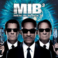 Men in Black 3 Movie Poster 27X40 Used Joseph R Gannascoli, Michael Jeremiah, Emma Thompson, Loukas Papas, Will Smith, Barry Sonnenfeld, Alice Eve, Justin Bieber, Lenny Venito, Charlie Barnett, Kimmy Suzuki