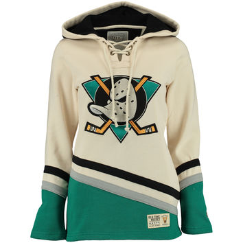 Women s Anaheim Ducks Old Time Hockey Natural Vintage Lacer Heavyweight  Hoodie bd47d16f713