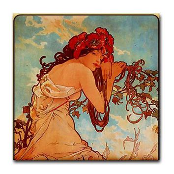 Alphonse Mucha 2 Tile Set - Summer (Part 1of2) by oshishop- 170698019