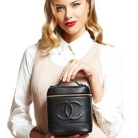ideeli | CHANEL Caviar Leather Cosmetic Case
