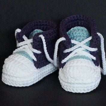 Handmade Baby Crochet Booties Sport Shoes Cotton