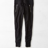 AEO Women's Textured Zippered Jogger